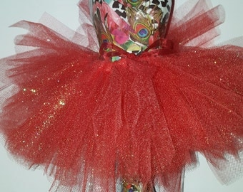 Red Sparkly Tutu for the American Girl Doll or 18 Inch Doll