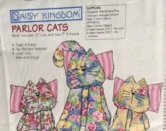 Daisy Kingdom Parlor Cats Panel