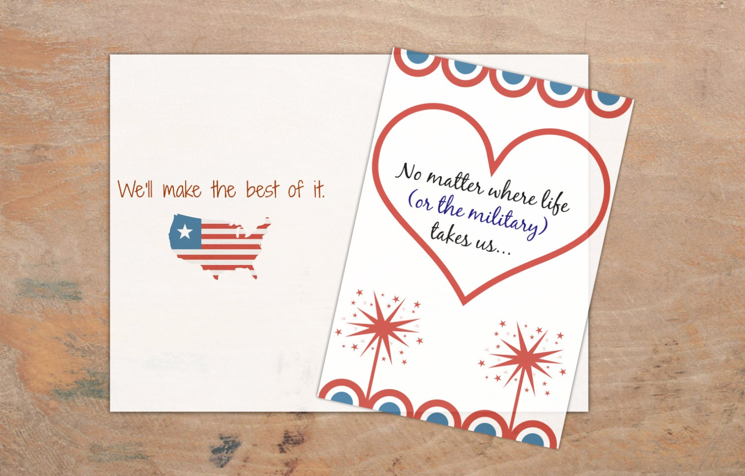 Universal image inside free printable military greeting cards