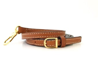"""58"""" Petite Leather Adjustable Cross-body Strap, Replacement Bag Strap - Your Choice of Leather & Hardware"""