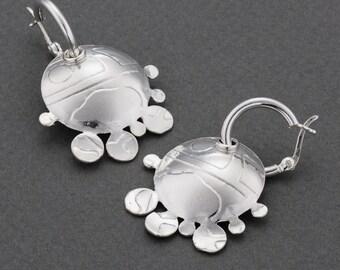 silver earrings.dangle earrings,sterling silver earrings,chic earring, unique earrings,statement earrings,sun shape earrings,gift for her.