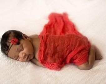 Baby Headband,  Headband, Photography Prop, Newborn Prop, Baby Prop, Baby Girl Prop, //  Sparkle Lady Bug Headband