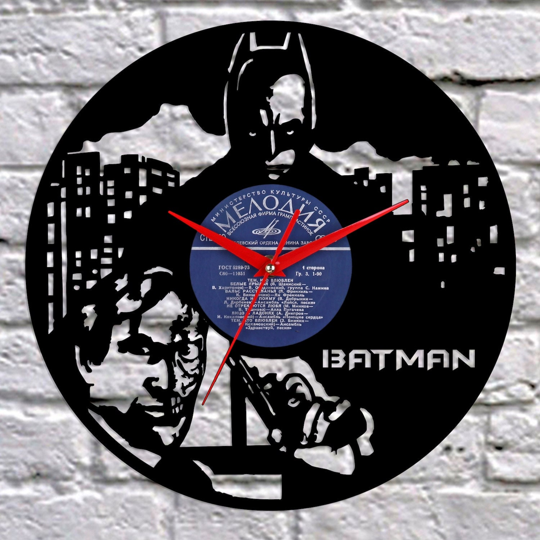 Reloj de vinilo de batman joker vinilo registro reloj reloj - Relojes de vinilo ...