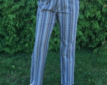 Vintage 90s 70s Denver Hayes Striped Jeans Size 34