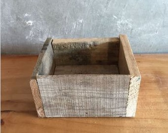 Small Reclaimed Wood Planter Box