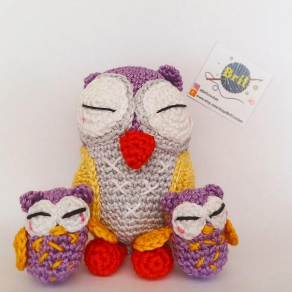 Amigurumi Cute Owl Twins : Items similar to Owl amigurumi - like mother like daughter ...