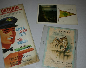 Canadian Map and Postcards