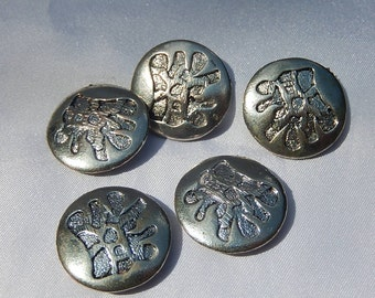 Chinese silver metal buttons