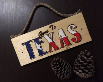 "Plank wood decorative ""Gone to Texas"""