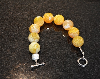 Yellow Faceted Jasper Beaded Bracelet