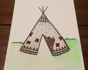 Home Sweet Home- Original Watercolor Art