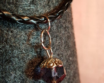 Smoked crystal bracelet