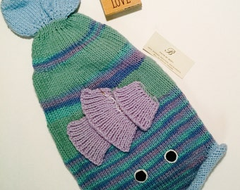 Knitted Floppy Fish Hat