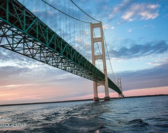 Mackinac Bridge, Mighty Mac, Straights of Mackinac, Great Lakes, Michigan Photography, Mackinaw City, Bridge Photography, Pure Michigan
