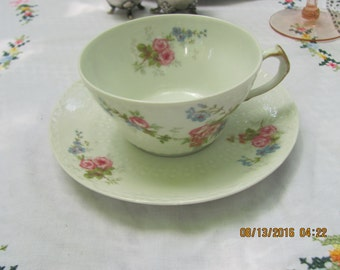 CH Field Haviland Limoges Teacup and Saucer