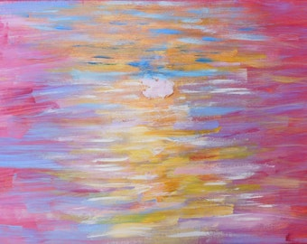 Original Abstract Contemporary Acrylic Painting 'Sunset'