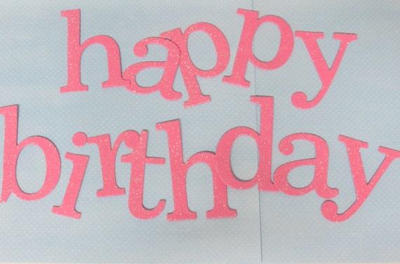 4quot happy birthday foam glitter letters by house of class With happy birthday foam letters