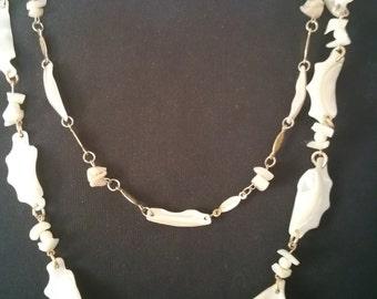 Unique 2 pc shell necklace set