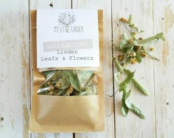 Linden Leaf, Linden Flower, Linden Tea, Tilia Tea, Lime Blossoms, Tilia Europaea, Organic Herbs, Organic,  Herbs, Herbal Infusions, Tea