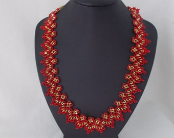 Beaded necklace Black necklace Red necklace White necklace Ukrainian necklace Jewelry bead Bohemian necklace Choker