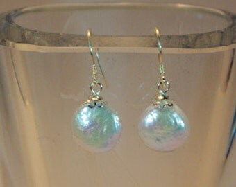 Sterling silver  & fresh water pearls earing