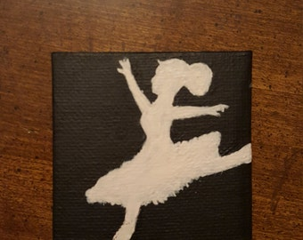 Mini Canvas Painting - She Is Alone