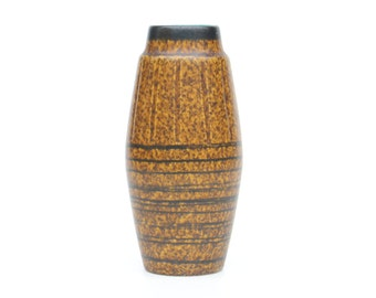 West Germany Scheurich vase 248-22 with turquoise inside-Retro German ceramic