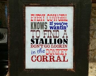 Cowgirl decor | Etsy