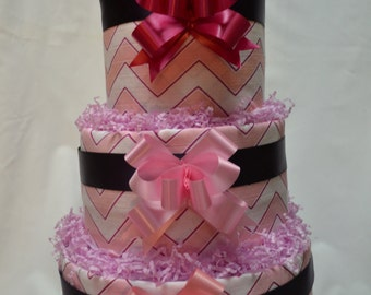 Diaper Cake Pink Theme