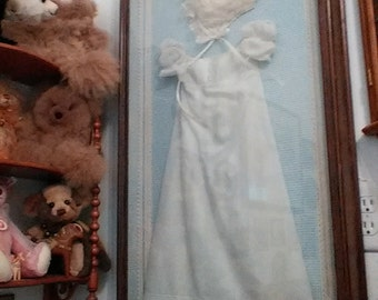 Christening gown & bonnet 1825 with provenance