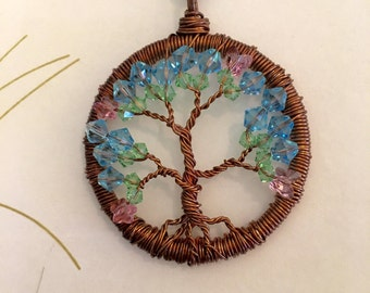 Tree of Life Necklace - Tree of Life Pendant - Wire-Wrapped Jewelry for Her