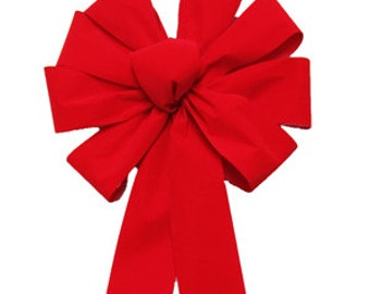 Red Velvet Outdoor Christmas Bow