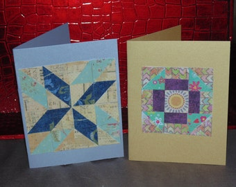 paper mosaic cards, quilt cards, blank notecards