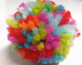 Pom Pom key chain made in Brooklyn - super cute, fuzzy and soft!