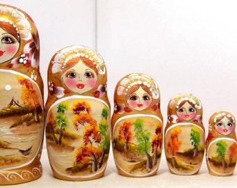 """Matryoshka """"Autumn"""" 7 seats"""
