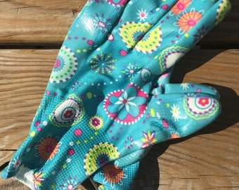 Monogrammed hipster gardening gloves
