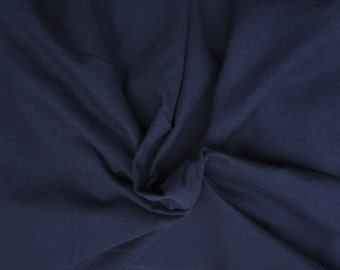 Cotton Lycra Spandex Knit Jersey Navy by the yard (S1)