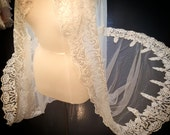 Unique tribal lace veil, ...