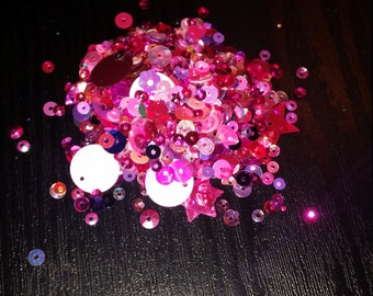 20g Hot Pink & Purple sequins