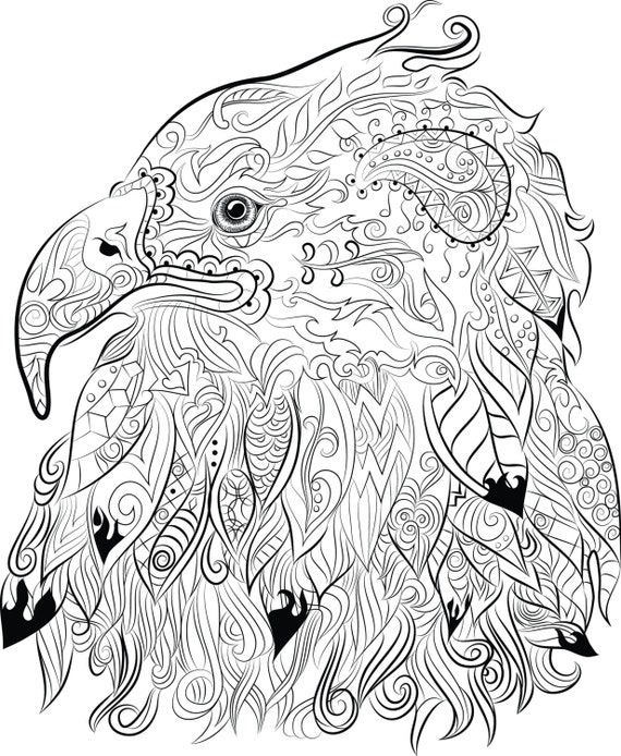 Items Similar To Eagle Drawing Instant Download To Print