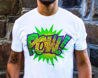 POW white t-shirt