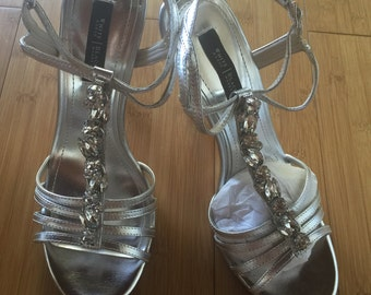 Shoes Silver with Diamonds