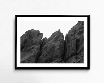 Volcanic Rocks / Iceland / Black and White / Travel / Arctic