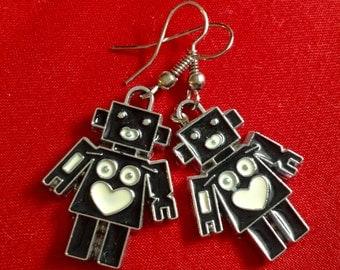 Happy Robot Earrings