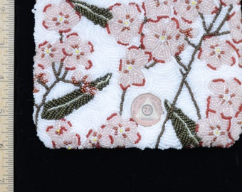 White Flower Beaded bag - SOLD. . . New one being made