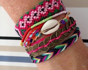 Bracelet brésilien typique du brésil fushia neuf