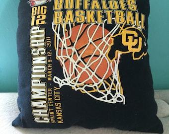 Colorado Buffaloes T Shirt pillow