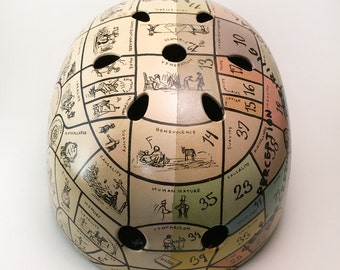Phrenology Chart Bicycle Helmet Customized from Inkwell Helmets