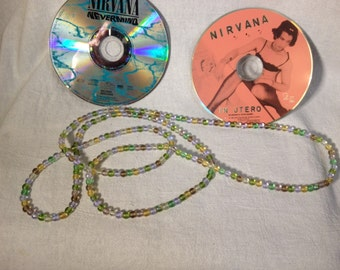 Kurt Cobain Nirvana 1993 Mtv Unplugged replica beads necklace, NEW, Handmade in London,UK by Kiribeads