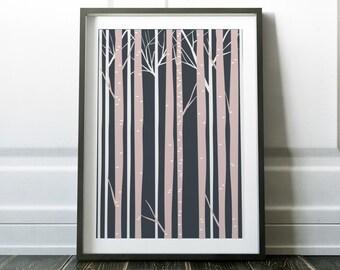 Minimalist Print, Wall Art Print, Tree Print, Tree Art, Prints, Minimalist Wall Art, Scandinavian, Wall Art, Modern Wall Art, Tree Wall Art